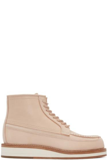 Sacai - Pink Hender Scheme Edition Leather Boots