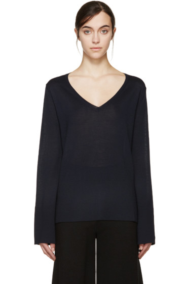 Stella McCartney - Navy Bell Sleeve Sweater