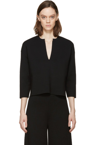 Stella McCartney - Black Vented Collar Sweater