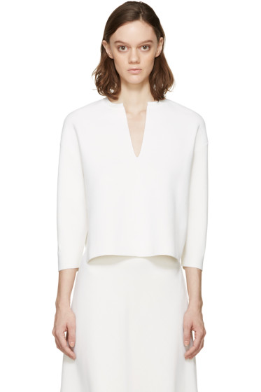 Stella McCartney - White Vented Collar Sweater