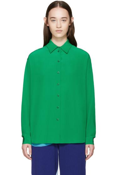 Stella McCartney - Green Silk Angeline Shirt