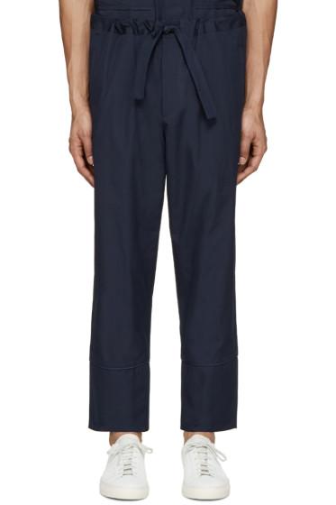 Umit Benan - Navy Cotton Comfort Trousers
