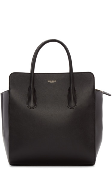Nina Ricci - Black Leather Faust Yokali Tote