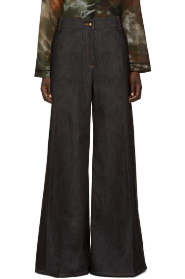Valentino - Navy Wide-Leg Jeans