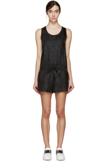 Valentino - Black Silk Butterfly Jumpsuit