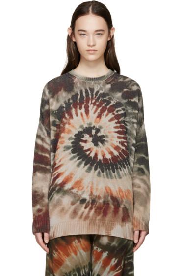 Valentino - Multicolor Tie Dye Cashmere Sweater