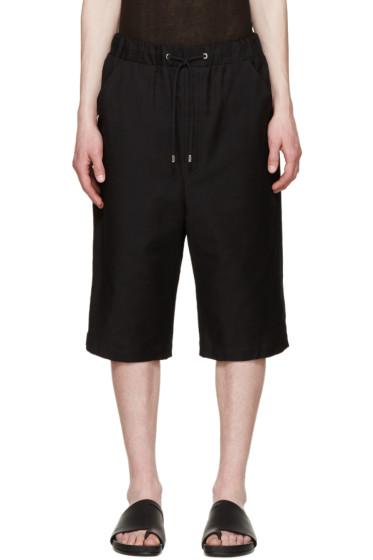 Thamanyah - Black Woven Shorts
