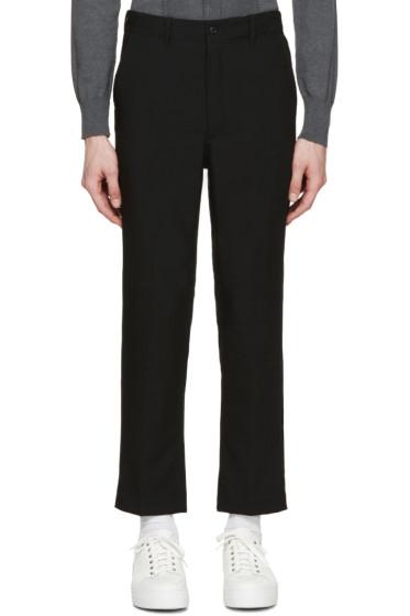 AMI Alexandre Mattiussi - Black Wool Worker Trousers