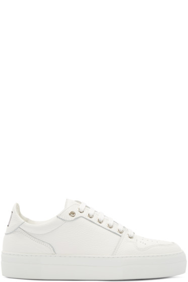 AMI Alexandre Mattiussi - White Low-Top Sneakers