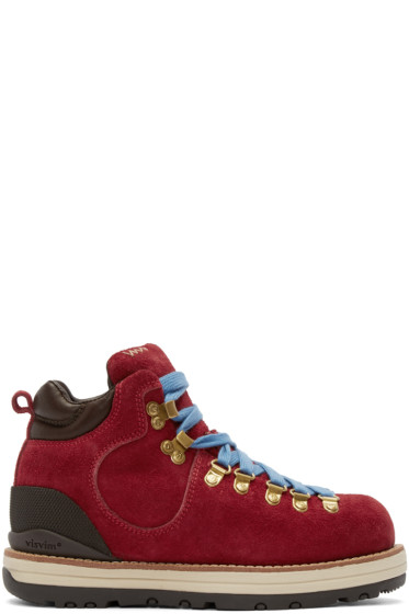 Visvim - Red Suede Serra Boots