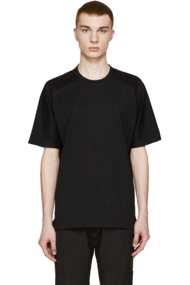 08Sircus - Black Loopwheel Terry T-Shirt