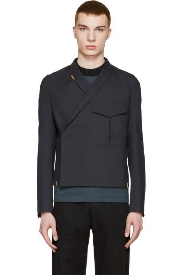 Kolor - Navy Wool Pocket Blazer