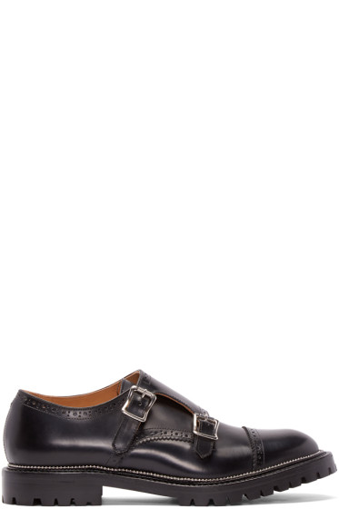 Kolor - Black Leather Monkstrap Brogues