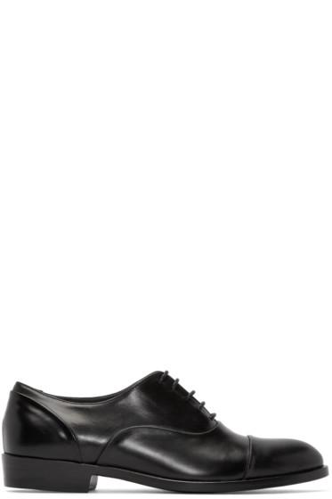 Robert Clergerie - Black Leather Pier Oxfords