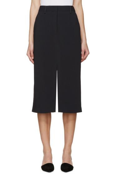 Maiyet - Navy Slit Long Skirt