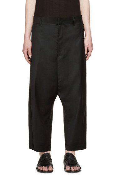 D.Gnak by Kang.D - Black Wool Cropped Trousers