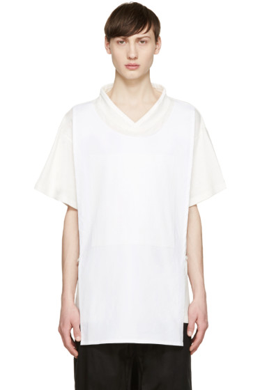 D.Gnak by Kang.D - White Layered T-Shirt