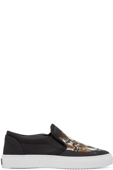 Marcelo Burlon County of Milan - Black Guadalupe Slip-On Sneakers
