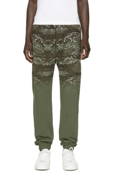 Marcelo Burlon County of Milan - Green & Brown Banes Lounge Pants