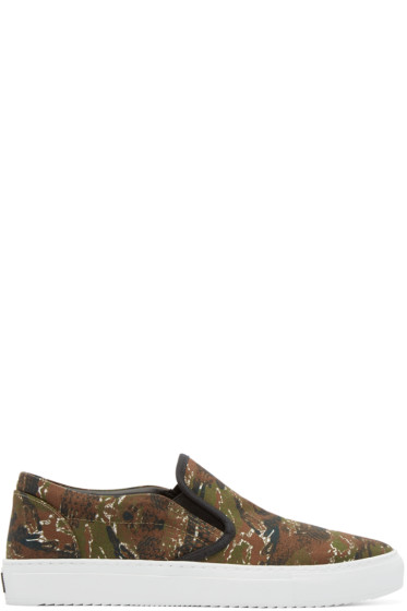 Marcelo Burlon County of Milan - Green Camo Pilar Slip-On Sneakers