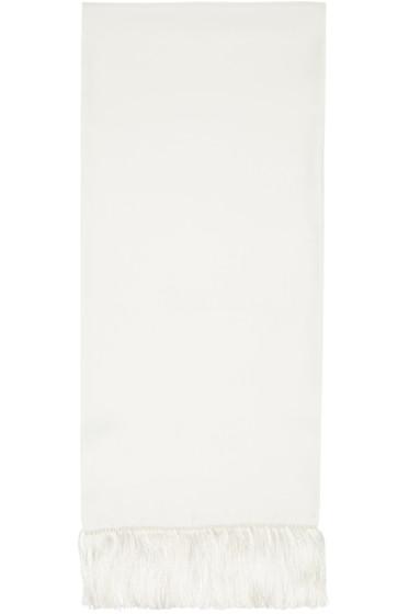 Haider Ackermann - White Silk Scarf