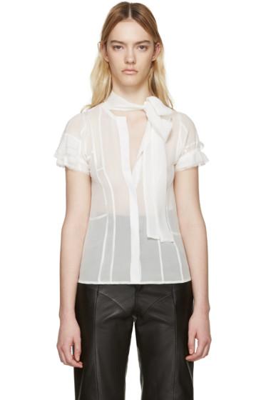 Haider Ackermann - White Silk Conium Shirt
