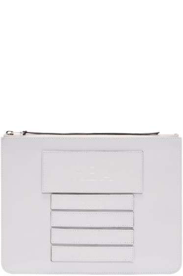 Hood by Air - White Moma Velcro Pouch