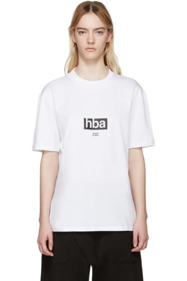 Hood by Air - White Lowercase T-Shirt