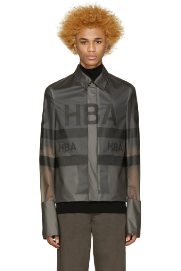 Hood by Air - Grey Vinyl 69 Jockey Jacket