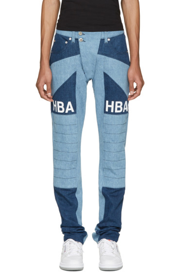 Hood by Air - Blue Scuro Ormond Moto Jeans