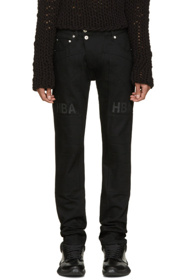 Hood by Air - Black Pedro Moto Jeans