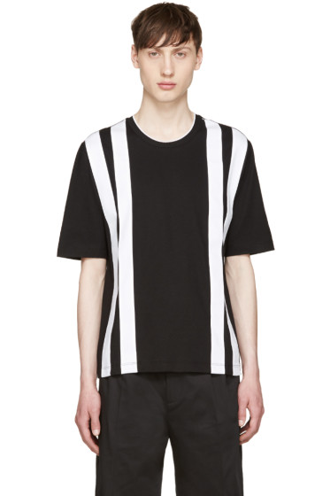 Giuliano Fujiwara - Black & White Striped T-Shirt