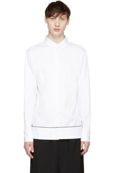 Pyer Moss - White Banded Shirt