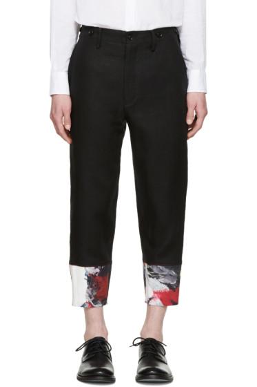 Yohji Yamamoto - Black Painted Cuff Trousers