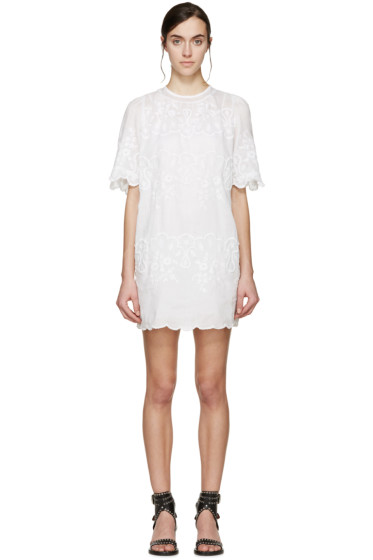 Isabel Marant - White Embroidered Ruthel Dress