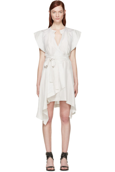 Isabel Marant - Grey Silk Lief Wrap Dress