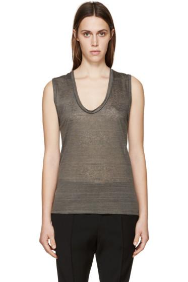 Isabel Marant - Grey Linen T-Shirt