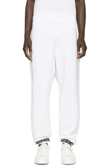 Off-White - White & Orange Box Lounge Pants
