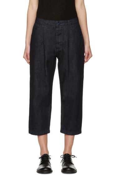 Studio Nicholson - Blue Alfini Pleated Denim Trousers