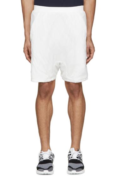 11 by Boris Bidjan Saberi - White Nylon & Cotton Shorts