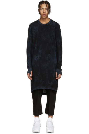 11 by Boris Bidjan Saberi - Black & Blue Knit Mesh Pullover