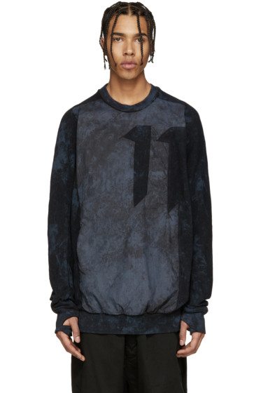 11 by Boris Bidjan Saberi - Blue Mesh & Nylon Sweatshirt