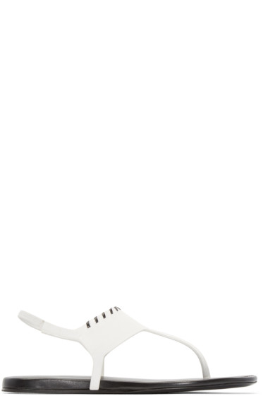 Carritz - White Leather Salome Sandals
