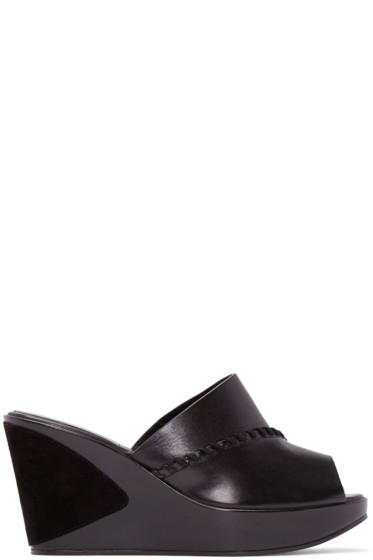 Carritz - Black Leather Ursa Mules