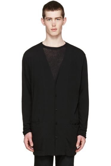 Diet Butcher Slim Skin - Black Long Jersey Cardigan