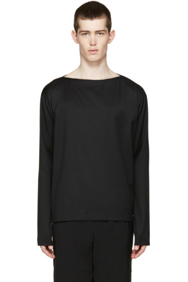 Johnlawrencesullivan - Black Boatneck Shirt