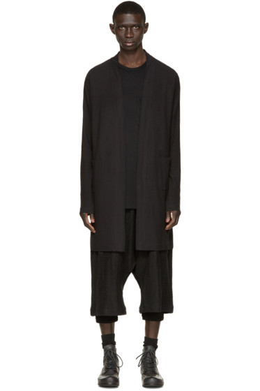 Nude:mm - Black Long Cardigan