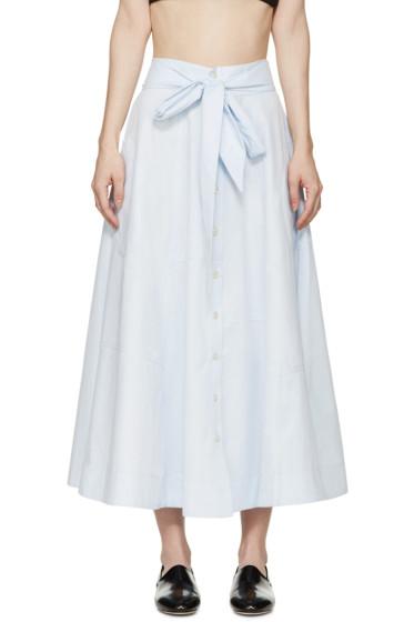 Lisa Marie Fernandez - Blue Patchwork Beach Skirt