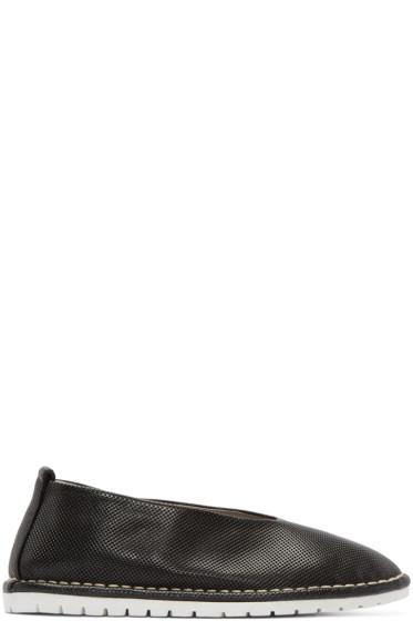 Marsèll Gomma - Black Perforated Leather Sanlaccio Flats