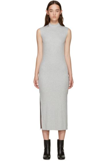 Nomia - Grey Ribbed Jersey Dress